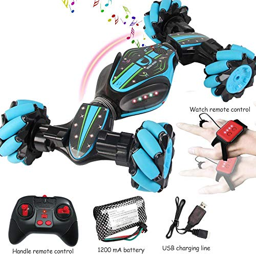 Remote Control Stunt Toy Car,Twisting Off-Road Vehicle,360 Degree Flip Double Sided Rotating Race Car,2.4G Gesture Sensing Remote Control Stunt Car With Four-Wheel Drive,Best Gift For Kids And Adults