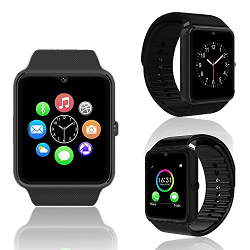 Indigi Smartwatch for All Bluetooth Enabled Smartphones - Black