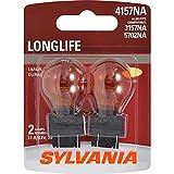 SYLVANIA 3157NA/4157NA Natural Amber Long Life Miniature Bulb, (Contains 2 Bulbs)