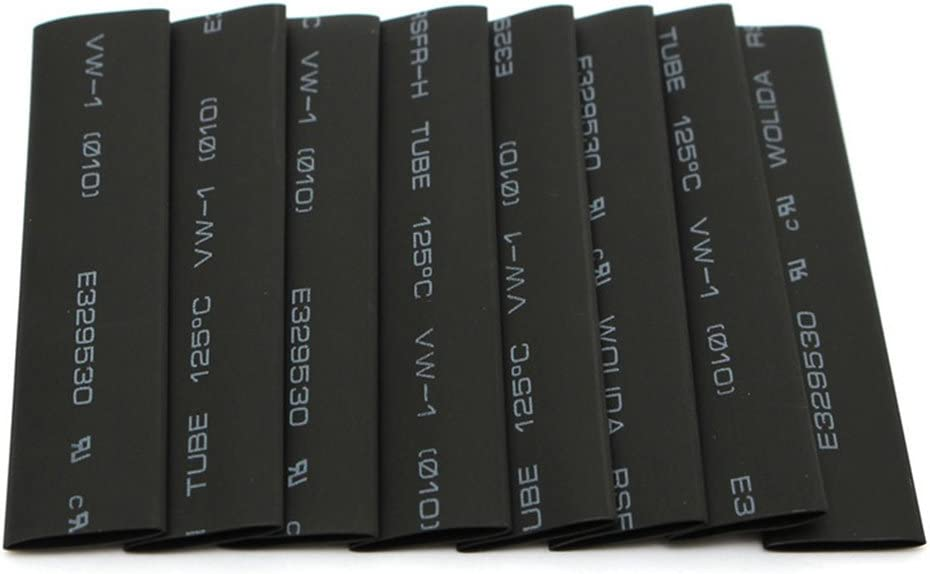 Provide The Best 127 Pcs Tube Thermor/étractables Noir Assortiment Wrap Kit de Tuyau r/étractable C/âble /électrique Isolation Tubes Tube Sleeving Tubes Wrap