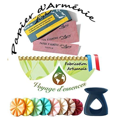 Tartelette fondante parfumée -Papier d'Arménie-galet parfum d'ambiance -voyage d'essences