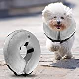 Airsspu Dog Cone Collar Soft - Soft Pet Recovery E-Collar Cone for Small Medium Large Dogs, Designed to Prevent Pets From Touching Stitches - Small