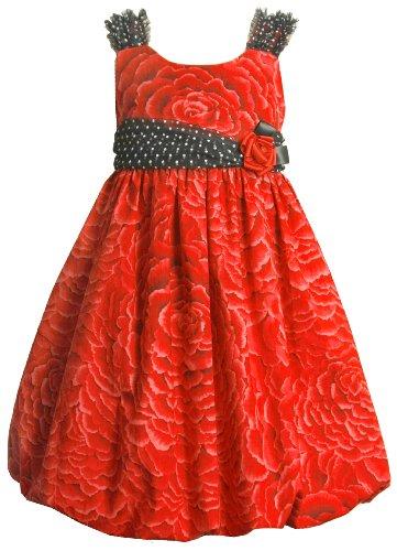 Bonnie Jean Little Girls' Allover Print Bubble Dress