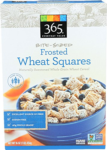 365 Everyday Value, Frosted Bite Sized Wheat Squares, 16 Ounce