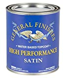 General Finishes High Performance Water Based Topcoat, 1 Quart, Satin
