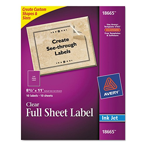 Avery 18665 Easy Peel Mailing Labels for Inkjet Printers 8-1
