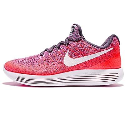 Nike Womens Wmns Lunarepic Low Flyknit 2, DARK RAISIN/WHITE-PURPLE EARTH, 8 US