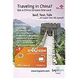 China Unicom SIM Card 1GB 4G data + 50 mins local calls or 100 texts, Free Shipping! Free Incoming Calls and Texts!