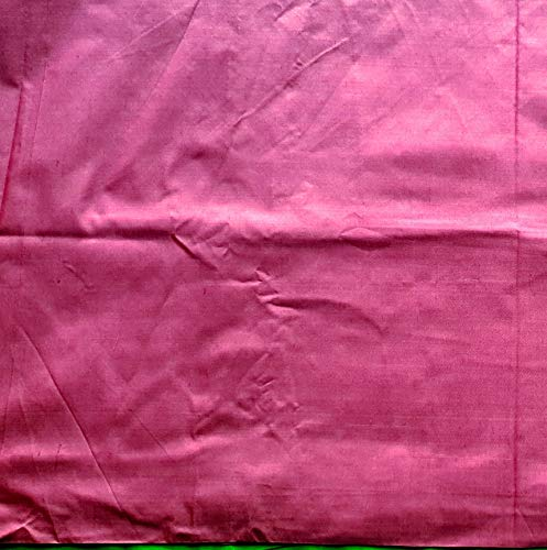 Cotton Silk Fabric Plain Solid Colors Handloom Weaving Material DIY Crafts Sewing Quilting (Rani Pink, 2 -