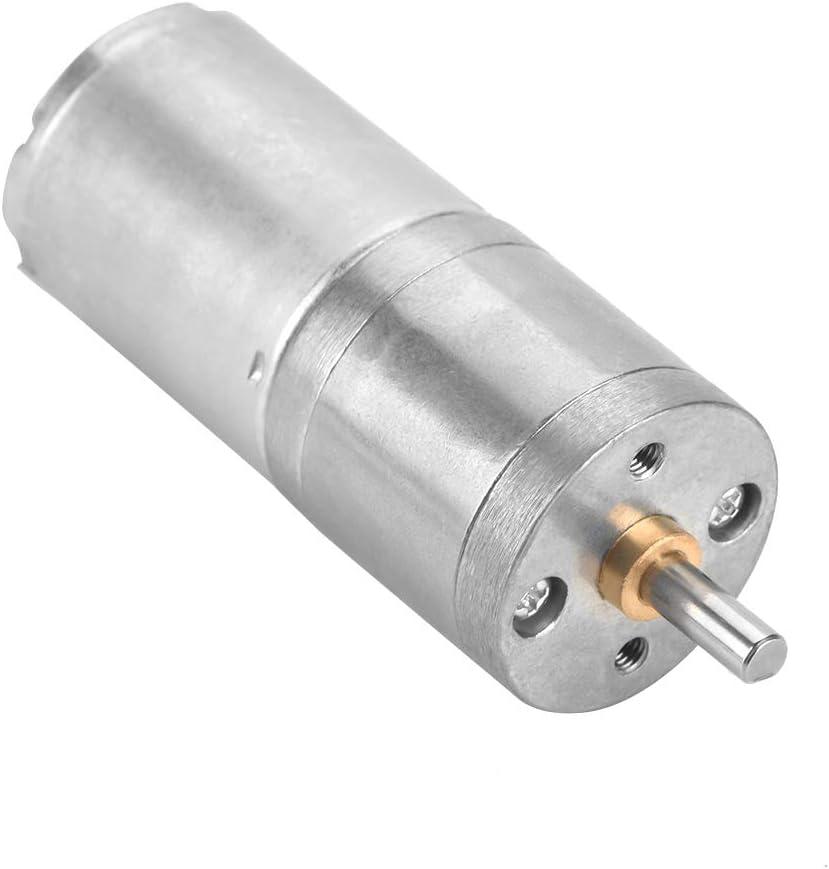 12V 5RPM motor de engranajes de metal de baja velocidad de 25 mm DC 12V 25GA-370 para bloqueo electr/ónico Motor de engranajes de CC