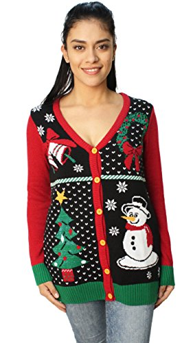 Ugly Christmas Sweater Women's Button Down Snowman Cardigan Sweater durable service