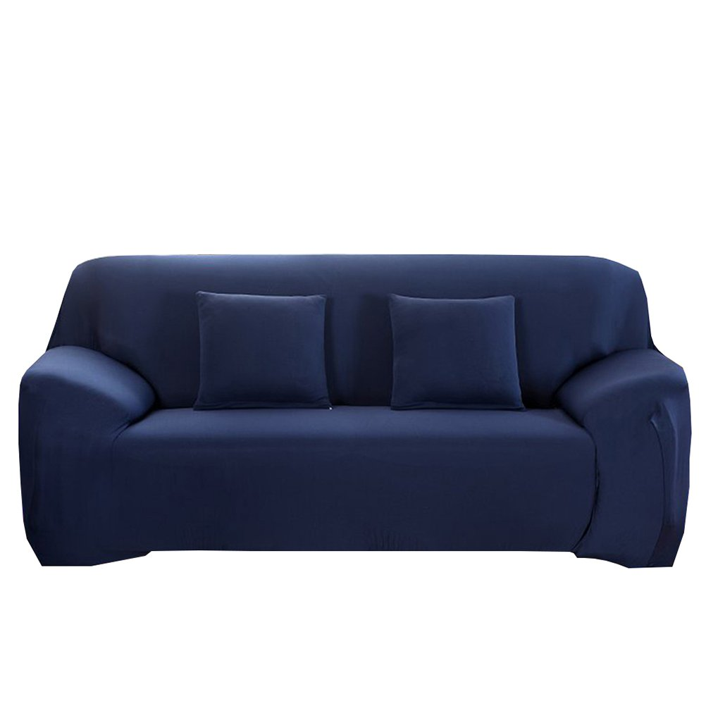 WINOMO Sofa Slipcover 3 Seater High Elasticity Couch Covers Furniture Protector(Navy)