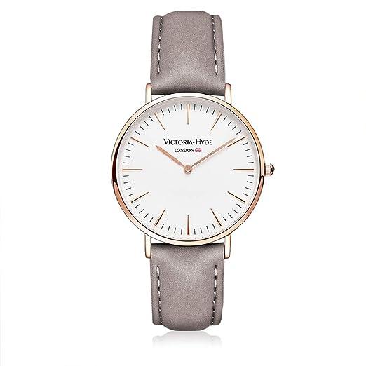 VH marca minimalista Unisex Hombres Mujeres Relojes De Oro Rosa Caso Amante de cuarzo reloj 3