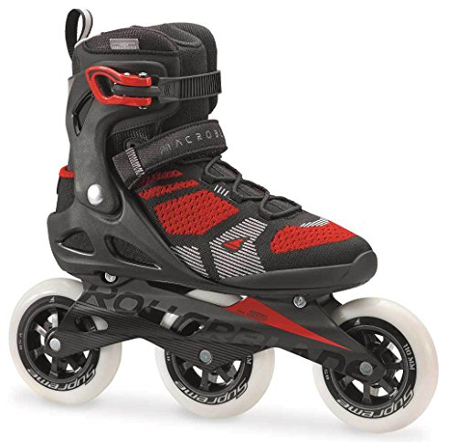 Rollerblade Men's Macrob 110 3Wd Fitness Inline Skate, Black/Red, Size 11 (Rollerblade Size 11)