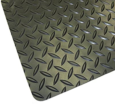 "Thermodyn 1/8"" x 4'x4' rubber diamond plate flooring"