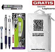 Zebra Paquete Clásico: Bolígrafo F-301 + Portaminas M-301 + Bolígrafo F-301 Compact + Repuestos.