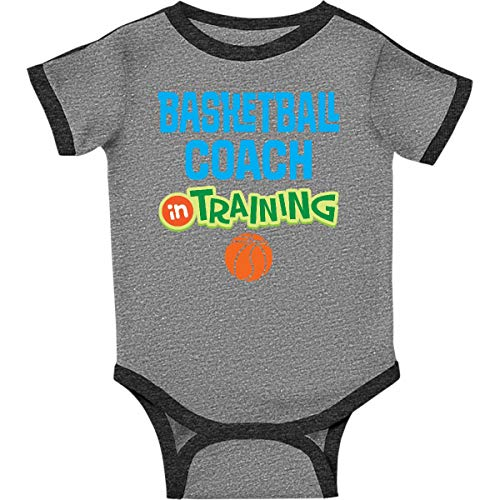 inktastic - Basketball Infant Creeper 6 Months Ringer Heather and Smoke 2c7a8