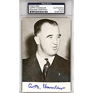 A.B. Happy Chandler Autographed Signed 3.5x5.5 Postcard #83961857 PSA/DNA Certified MLB Cut Signatures