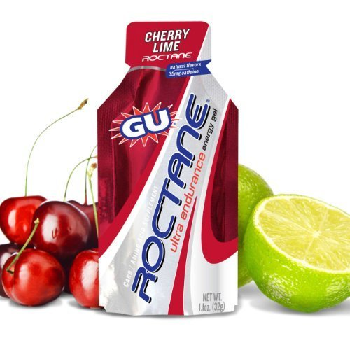 GU Roctane Ultra Endurance Energy Gel, Cherry Lime, 8-Count by GU Energy Labs