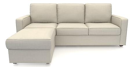 Urban Ladder Apollo L Shaped Sofa 3 Seater Ottoman Pearl Amazon