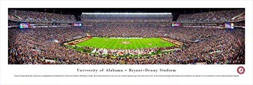 Alabama Football - 50 Yard - Blakeway Panoramas Unframed College Sports Posters Alabama Bryant Denny Stadium