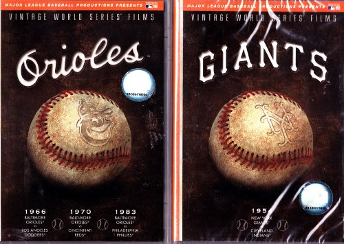 Baltimore Orioles Vintage World Series Films and New York Giants Vintage World Series Films : 2 Pack Collection