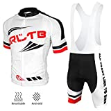 Arltb Cycling Jersey and Bib Shorts Set Bicycle Bike Short Sleeve Jersey...