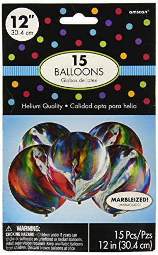 (Party Decoration | Marble Latex Balloons |(Pack of 15) 12