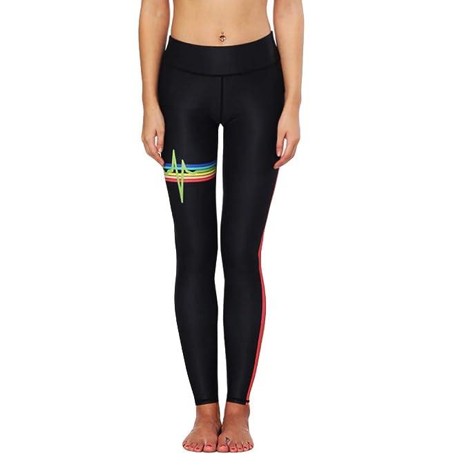 Fitness Leggings Deportivo Yoga Pantalones, Rayas Arcoiris ...