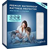 Ultra Plush 100% Waterproof Premium Mattress Protector, Luxuriously Soft and Comfortable, Protects Against Dust Mites and Allergens, Stretchable Deep Pocket Ensures Snug, Easy Fit (Twin Size)