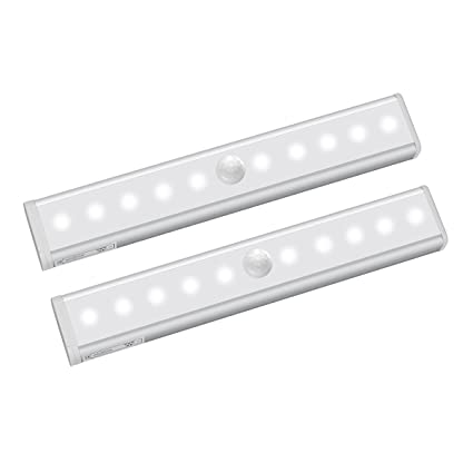 AROUSE Motion Sensor Light, Cordless Under Cabinet Light Closet Lights  Battery Operated 2 Pack DIY