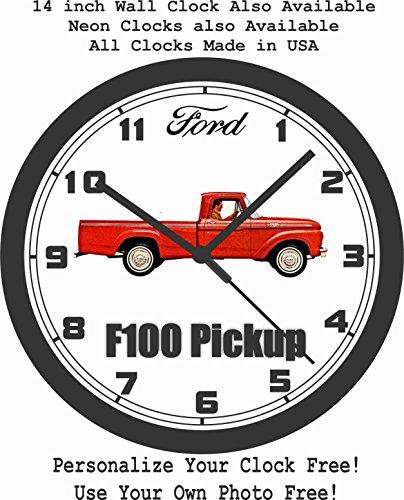 1963 FORD F100 PICKUP TRUCK WALL CLOCK-FREE USA SHIP!