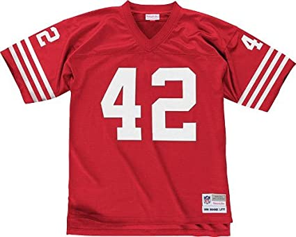 907ce42541e San Francisco 49ers Mitchell & Ness 1990 Ronnie Lott #42 Replica Throwback  Jersey (M