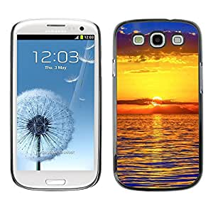 "For SAMSUNG Galaxy S3 III / i9300 / i747 , S-type Puesta de sol Mar Beautiful Nature 22"" - Arte & diseño plástico duro Fundas Cover Cubre Hard Case Cover"