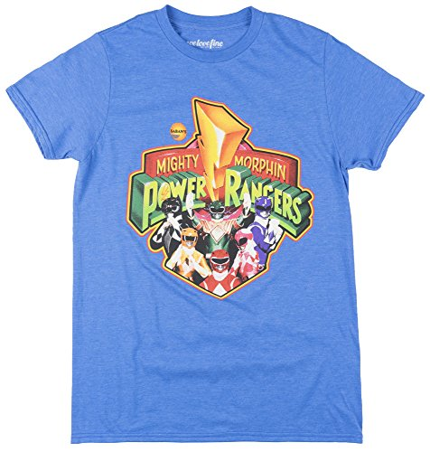 Mighty Morphin Power Rangers Mens T-Shirt in Royal