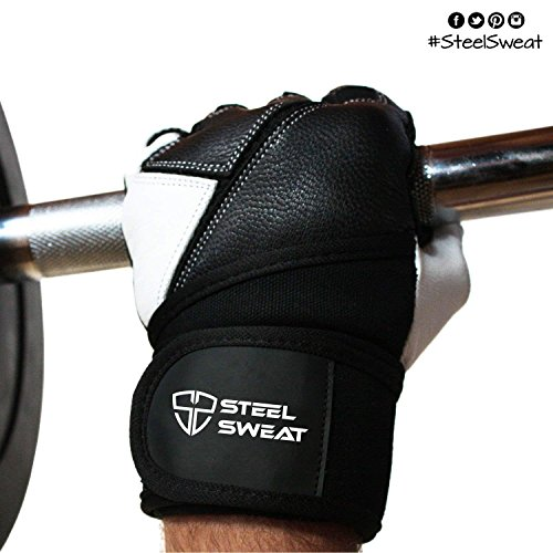 Weight Lifting Wrist Wraps Bandage Support Gloves Gym: Steel Sweat Weightlifting Gloves