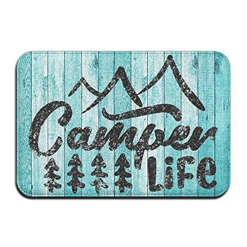 Kbeijinzh Funny Camper Life Camping Doormat - 16x24 Inch; Welcome Door Mats Inside Non Slip Entrance Rug