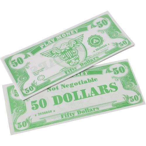Making Believe Play Money $50 Dollar Bills - Pack of 200 -