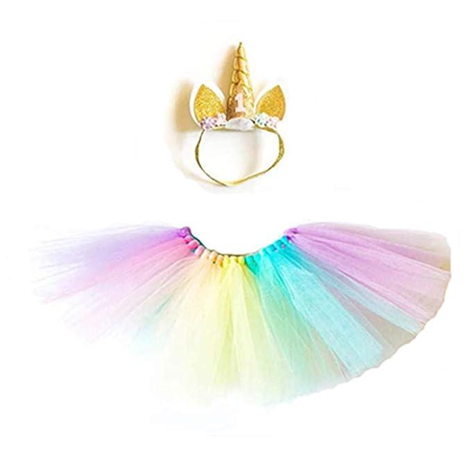 Amazon.com: Bebé niñas 1st cumpleaños traje vestido falda ...