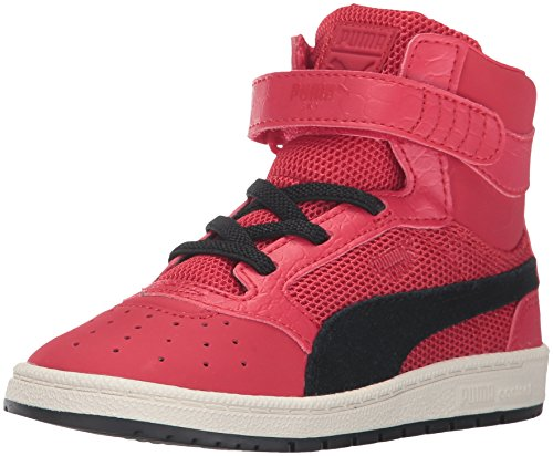PUMA Kids' Sky II Hi Color Blocked Inf Sneaker,Toreador Black,4 M US Toddler
