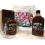 BBQ and Hot Sauce Gift-Set with Autographed Koozie and XL Tshirt from Jessie Kresa ODB Bam TNA Impact Wrestling Star For Ribs Chicken Pork Original (With Tshirt Gift-set)