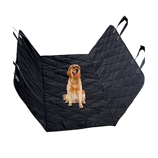 Pet Seat Covers For Car, Vitalismo Dog Car Seat Hammock Convertible Waterproof Mat Padded  Scratch Proof Machine Washable Nonslip For Cars Trucks And SUV  Black