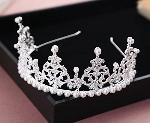 arried_ Crown Tiara Party Wedding Headband Women Bridal Princess Birthday Girl Gift luxury _shadow_floor_ Headdress Korean style new pearl _cheap_ jewelry pageant Crown Tiara Party ()