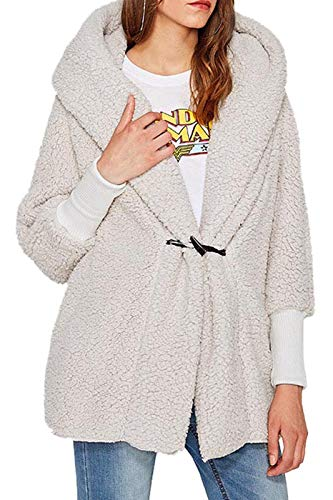 BodiLove Women's Faux Fur Oversize Hoodie Cotton Jacket for sale  Delivered anywhere in USA