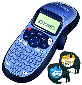 dymo letratag lt 100h label maker with 2 tapes office products. Black Bedroom Furniture Sets. Home Design Ideas