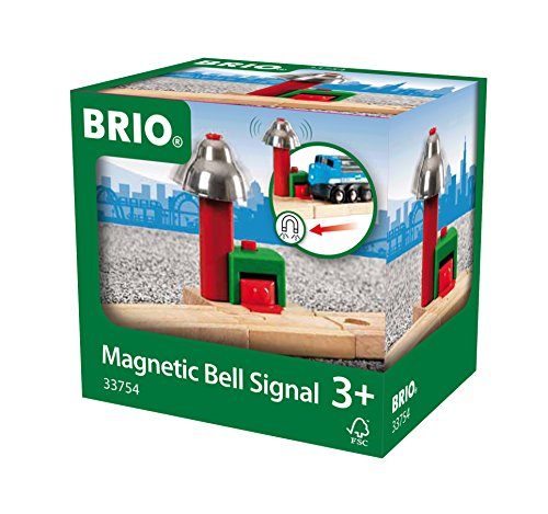 (BRIO World - 33754 Magnetic Bell Signal | Accessory for Toy Train Sets for Kids Ages 3 and Up)