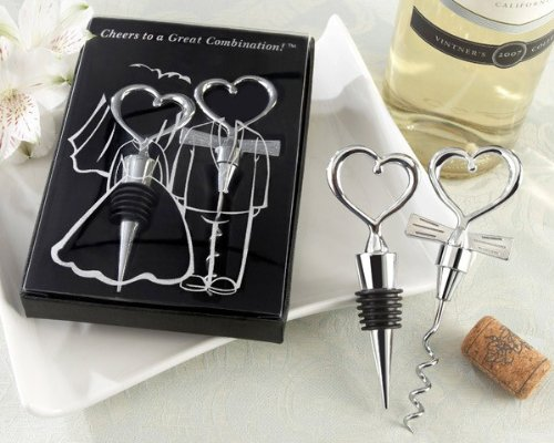 Love and Hearts 2 Pieces ''Cheers to a Great Combination'' Wine Set [Set of 96]