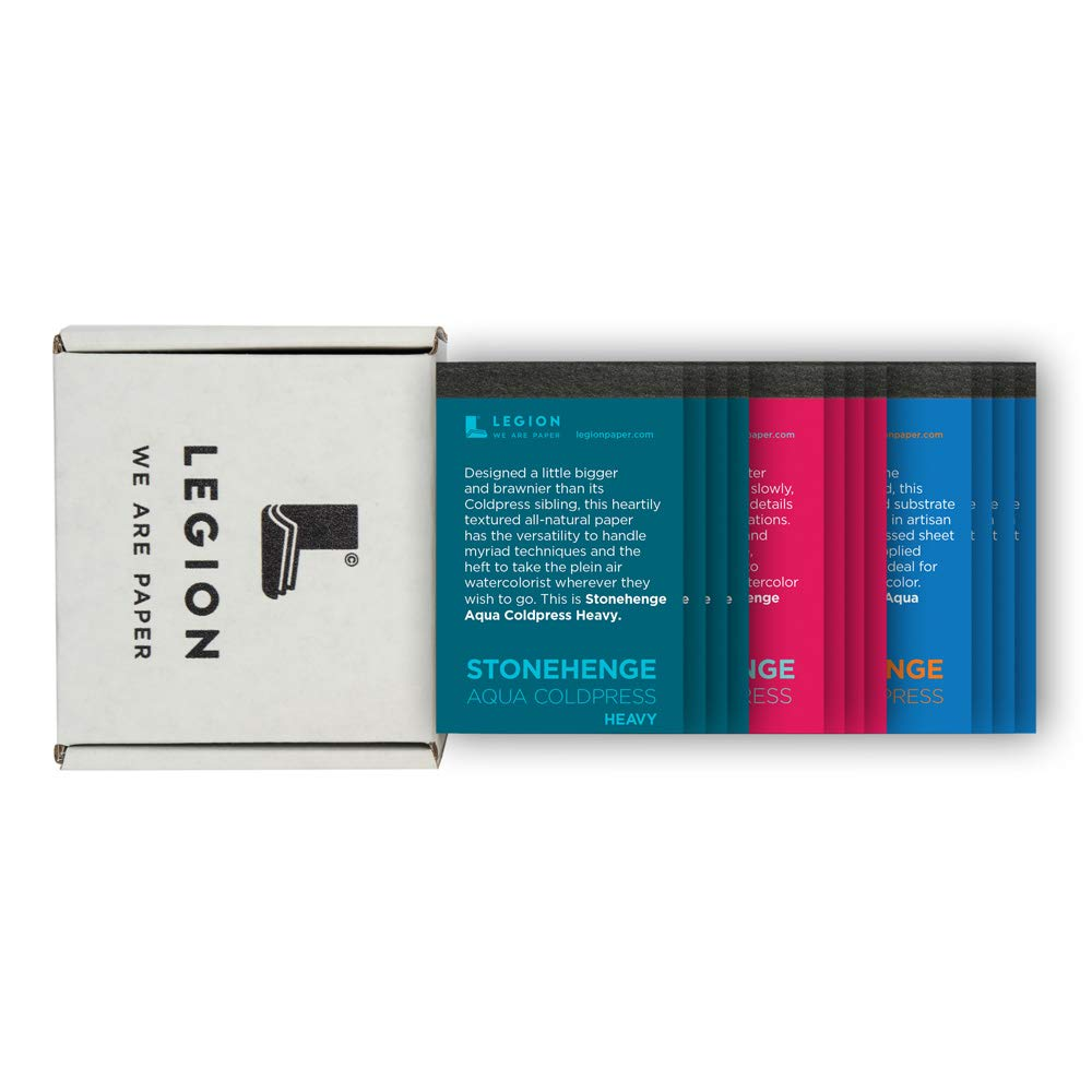 Legion Mini Pad Sampler Set: 12 Stonehenge Aqua Artist Pads, 2.5 by 3.75 Inches Each (L21-MINIPADKITAQ)