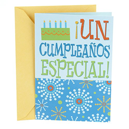 - Hallmark Vida Spanish Birthday Greeting Card (Milestone)