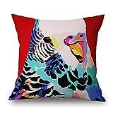 Lionkin8 Africa Wildness Series Cartoon Zebra Animal Design Cotton Linen Decorative Throw Pillow Case Cushion Cover 18''x18''